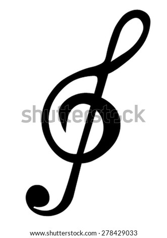 Treble Clef - stock vector