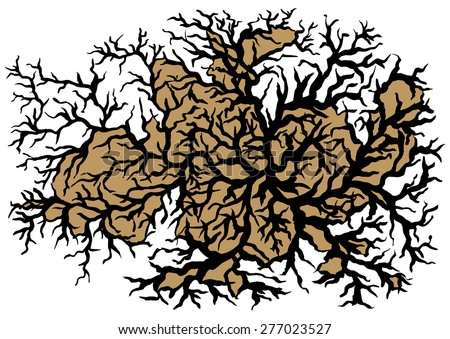 Tree Branches Abstract Background Vector Illustration - stock vector