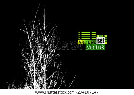 Tree branches background. Vector - stock vector