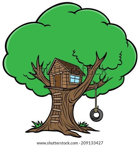 Tree House - stock vector