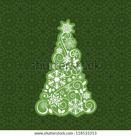 Tree illustration background pattern - stock vector
