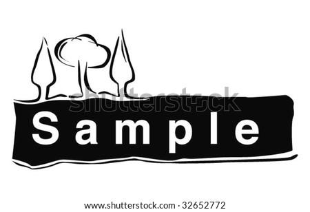 Tree Label - stock vector
