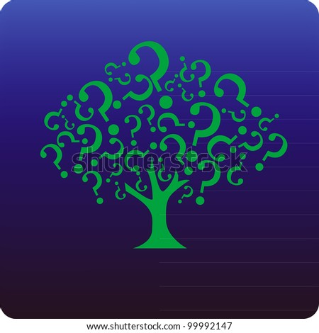 Tree of questions - stock vector