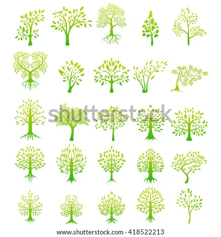 tree silhouette life background - stock vector