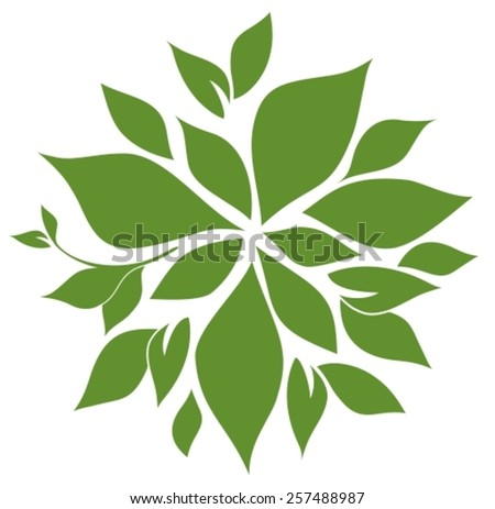 Tree top view for landscape and you design. Vector illustration - stock vector
