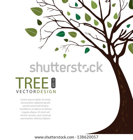 Tree vector design over white background illustration - stock vector