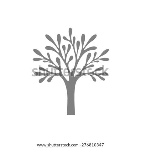 Tree vector logo design template - stock vector