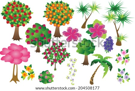 trees and flowersTrees and FlowersEach piece is on a