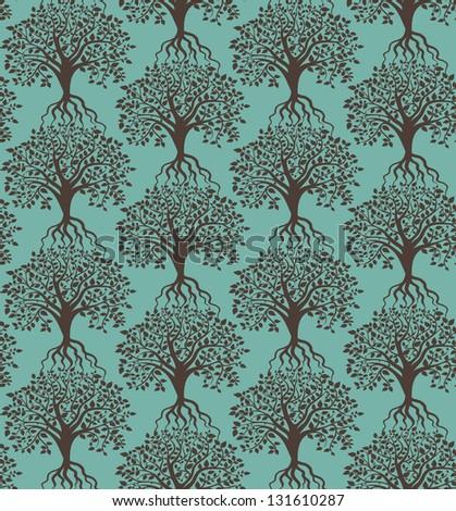 Trees pattern seamless. - stock vector