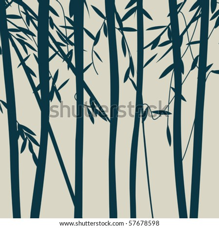 Trees silhouettes - stock vector