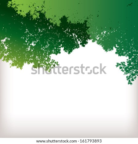 TreeScape with green leaves and space for text - stock vector