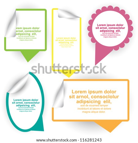 trendy colorful speech bubble set - stock vector