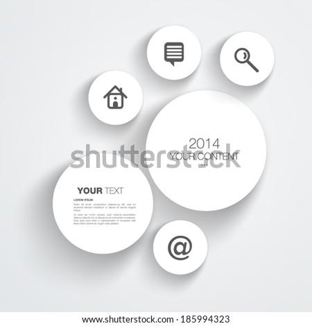 Trendy 3D website design vector Eps 10 - stock vector