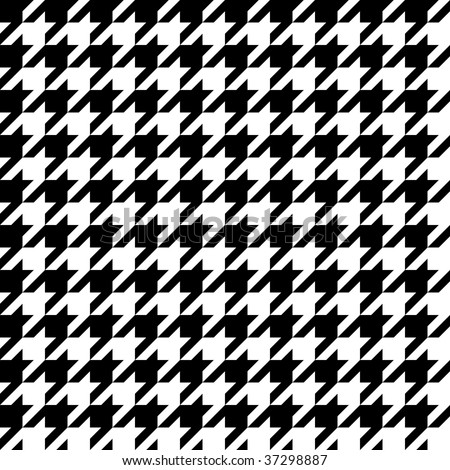 Trendy hounds tooth pattern that tiles seamlessly as a pattern. - stock vector