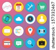 Trendy Premium Flat Icons for Web and Mobile Applications Set 1 - stock vector