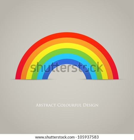 Trendy Rainbow Creative Icon Vector Design - stock vector