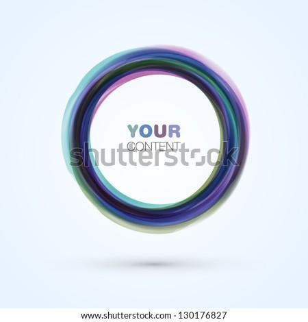Trendy Vector Circle Logo Design - stock vector