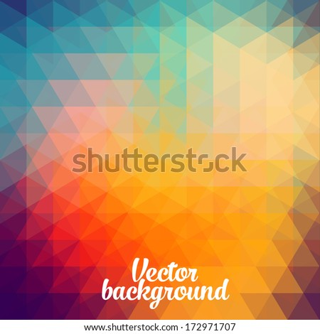trendy vector the background of geometric patterns vintage retro style graphics, geometry Cubism  - stock vector