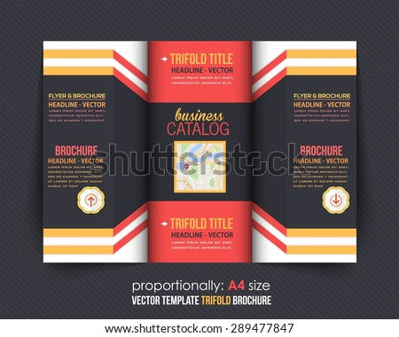Tri-fold Brochure Design and Catalog Vector Concept Template  - stock vector