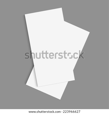Tri fold brochure design.  mock up. corporate brochure or cover design. for publishing, print and presentation. - stock vector