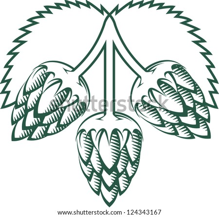 Tri-Hops Emblem - stock vector