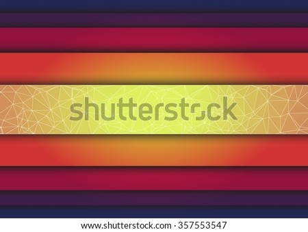 triangle Abstract colorful stripes background for your design - stock vector