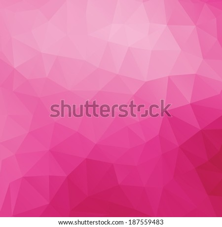 Triangle abstract pink vector background - stock vector