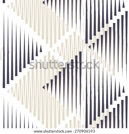 Triangle and rhombus in geometric patterns, seamless vector background. - stock vector