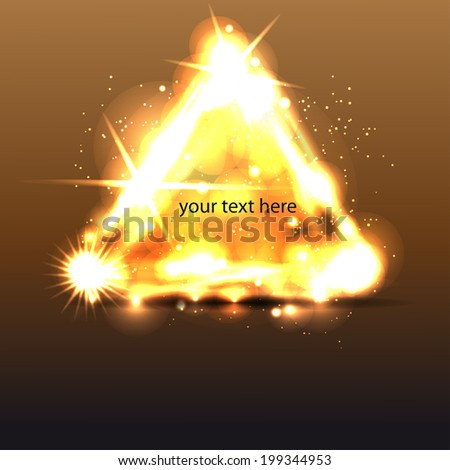 Triangle border with light effects. Vector template for your business presentations or your text. - stock vector