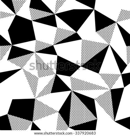 Triangle colorful pattern, seamless - stock vector