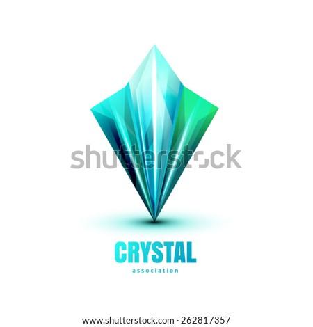 Triangle Crystal Logo - stock vector