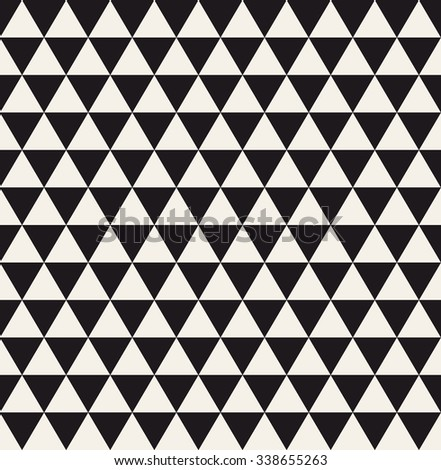 Triangle geometric seamless pattern. Fashion graphic background design. Modern stylish texture. Monochrome template. Can be used for prints, textiles, wrapping, wallpaper, website, blog etc. VECTOR - stock vector