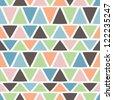 Triangle Geometric Seamless Vector Repeat - stock vector