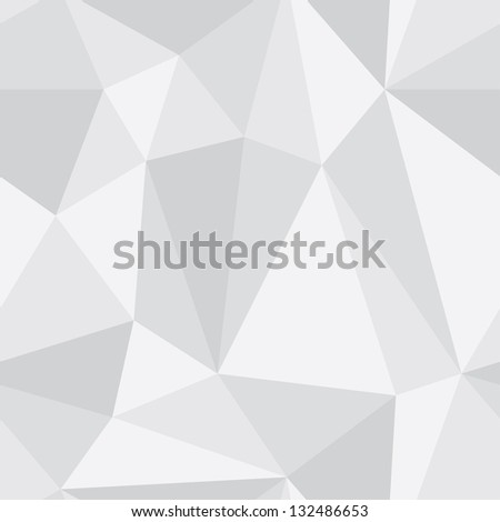 Triangle grey seamless pattern - stock vector