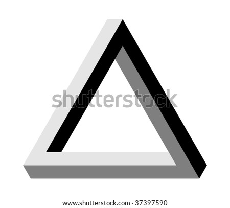 Triangle illusion Penrose VECTOR - stock vector