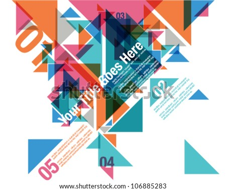 Triangle Overlap Composition Design - stock vector