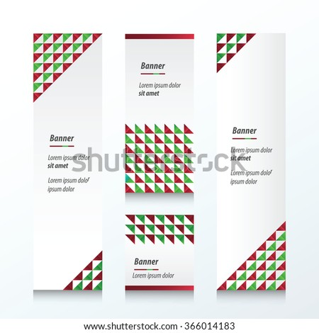 Triangle pattern Christmas Styles Styles - stock vector