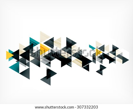Triangle pattern composition, abstract background with copyspace. Vector illustration - stock vector