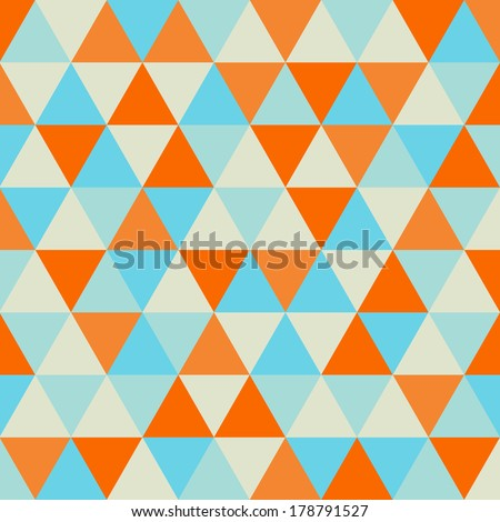 triangle pattern, geometric abstract texture  - stock vector