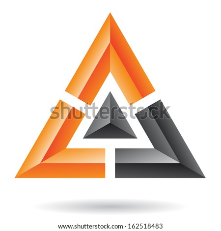 Triangle Pyramid Abstract Icon - stock vector