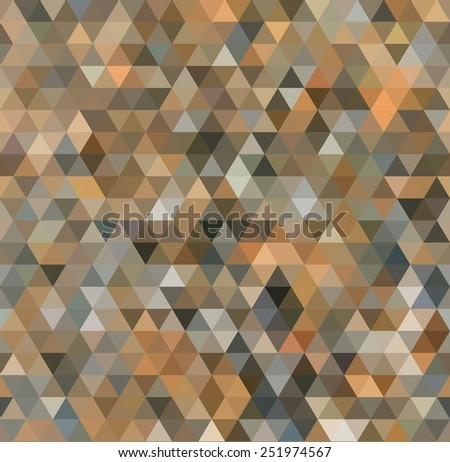 Triangle Shapes Pattern, Texture. Geometric Abstract Vector Background - stock vector