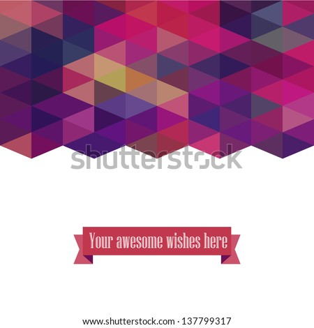 Triangle template background, triangle background, vector illustration with plenty space for your text - stock vector