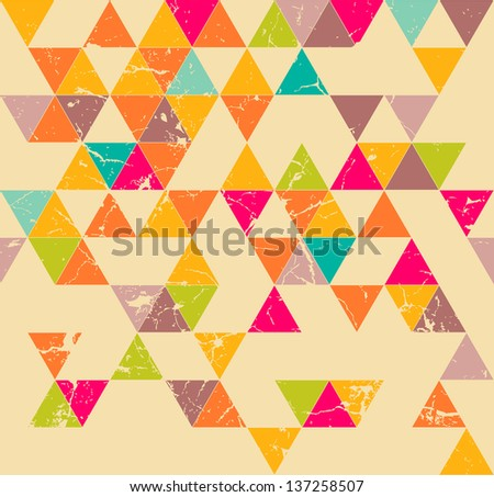 Triangles grunge seamless pattern - stock vector
