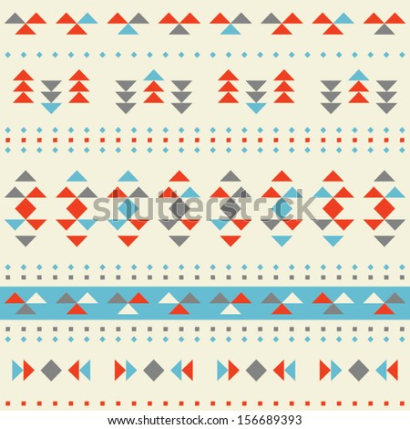 Triangles Seamless Wallpaper Background - stock vector