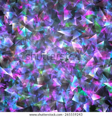 triangles vector geometric background with gradients different colors pattern - stock vector