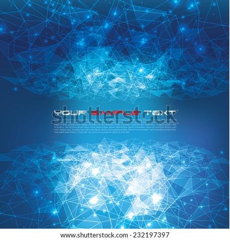 Triangular Tech Background - stock vector
