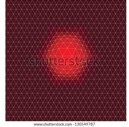 TRIANGULATION RED ENERGY - stock vector