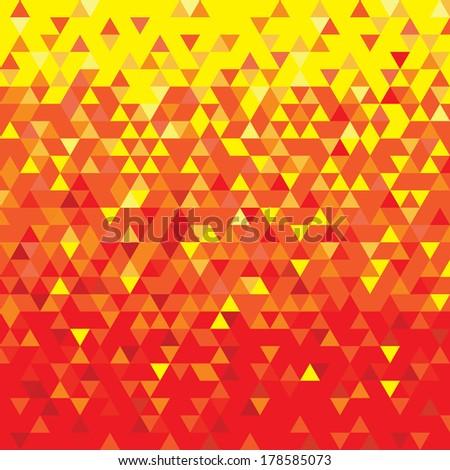 Triangulation red/yellow - stock vector