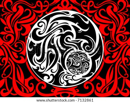 Tribal art abstraction - stock vector