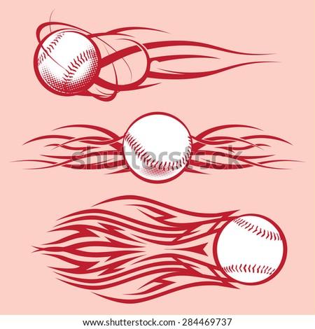 Tribal Baseballs - stock vector